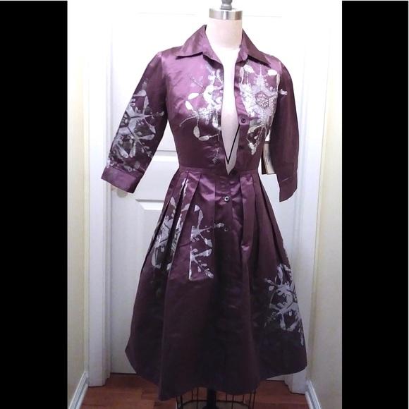 1f1f8322b2 Samantha Sung Dresses | Diamond Floral Audrey Silk Dress | Poshmark